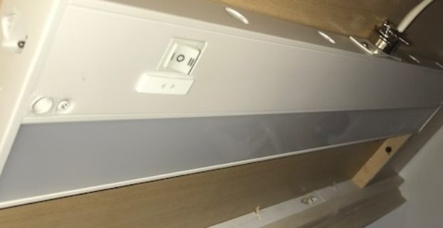 under cabinet lighting placement location