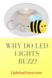 why do led lights buzz when i dim them