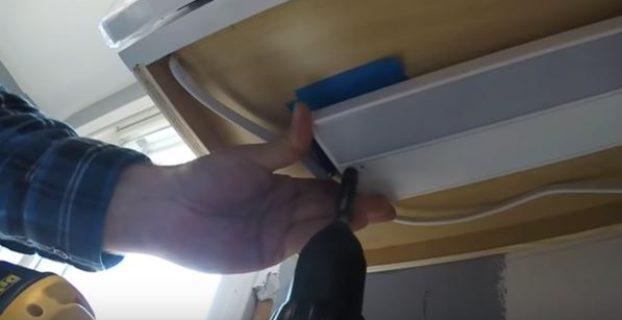 under cabinet light installation