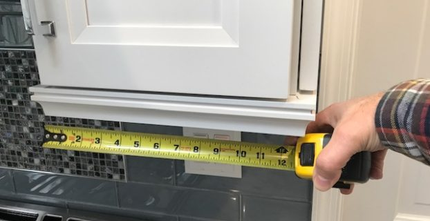 how to measure for under cabinet lighting