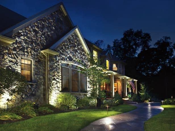 landscape lighting adds value