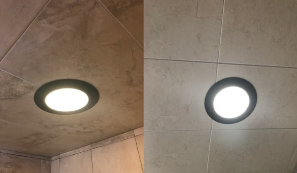 shower light color