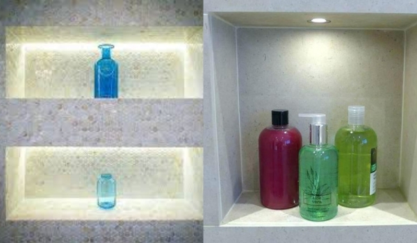 shower niche lighting
