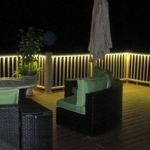 rope lighting for a deck