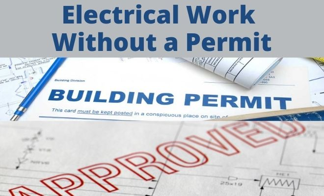 electrical work done without a permit