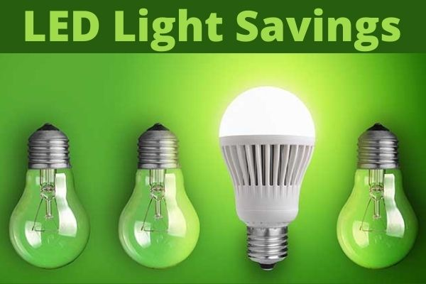 how much do led lights save