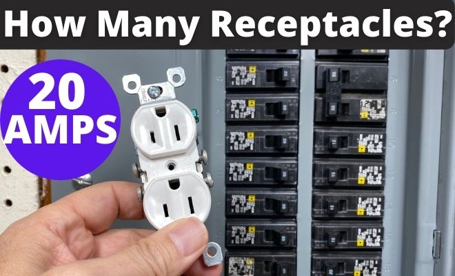 How Many Receptacles on a 20 amp circuit
