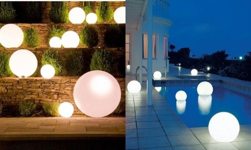 backyard globe lights